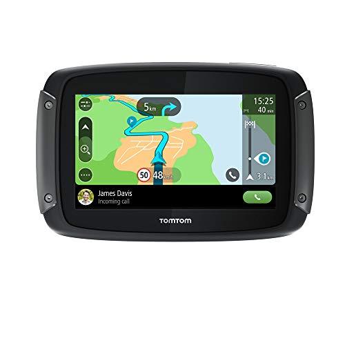 Oferta de TomTom Rider 500 - GPS para motocicletas, 4.3 pulgadas con carreteras montañosas, actualizaciones mediante Wi-Fi, compatible Siri y Google Now, Traffic y Radares de tráfico, 49 mapas