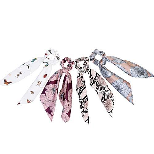 WELROG 4 Stücke Frauen Haar Haargummis Haar Krawatten Kopfverpackung Gummibänder Haar Zubehör (Mischen - 3)