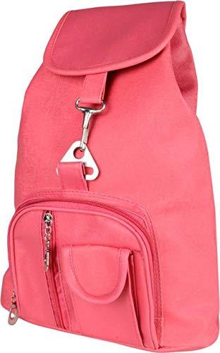 SK NOOR Fashion Women's PU Faux Fur Hand Bag Backpack (Pink) Image 2