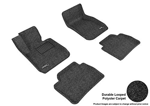 3d MAXpider All 2 Row Custom Fit Floor Mat for select 3 Series (F30) Models - Classic Carpet (Black)