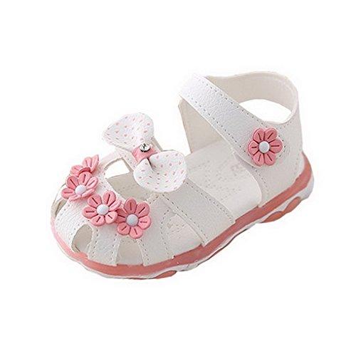 Sandalen Baby Mädchen von Evedaily, Babyschuhe rutschfeste beleuchtete Sohle weiche Lederschuhe Prinzessin Baby Lauflernschuhe