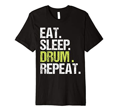 Eat Sleep Drum Repeat Shirt Drummer Fan Lover Christmas Gift - Eat Sleep Drum