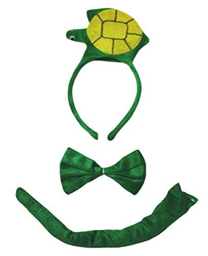 Turtle Headband Bowtie Tail Unisex Children Costume (One Size) (Schildkröte Dress Up Kostüme)