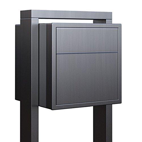 Standbriefkasten, Design Briefkasten Soprano Edelstahl - Bravios