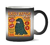 Kaiju Battle Play Illustration Tazza Calore Cambiamento di Colore