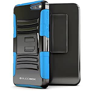Fire Phone Case, BUDDIBOX [HSeries] Heavy Duty Swivel Belt Clip Holster with Kickstand Maximal Protection Case for Amazon Fire Phone, (Blue)