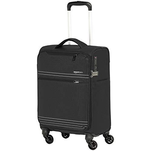 AmazonBasics - Trolley da viaggio morbido e leggero, 56 cm, Nero