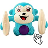 SaleOn™ Dancing and Spinning Rolling Doll Tumble Monkey Toy Voice Control Banana Monkey with Musical Toy with Light and…