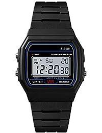 Moda Lujo Reloj Unisex Reloj Hombre Relojes Inteligente LED Digital con Banda de Silicona Smartwatch Impermeable