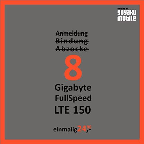 Preisvergleich Produktbild Mobiles Internet Simkarte Prepaid mit 8GB LTE für Österreich SIM einfach Einlegen & Lossurfen