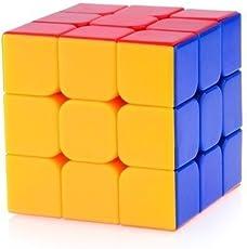 Magic Cube PVC 3x3x3 Stickerless Speed Cube (Multicolour)
