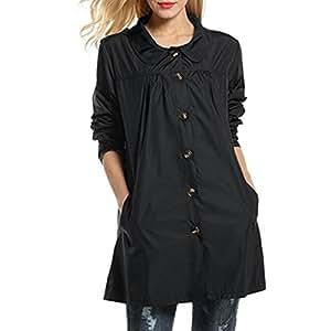Snow Rainwear, JYC 2018 Women's Hooded Lightweight Waterproof Raincoat Jacket (Black, Medium)