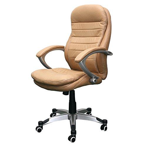 Bürostuhl Rom beige Büro Ausstattung Leder Chef Sessel Stuhl