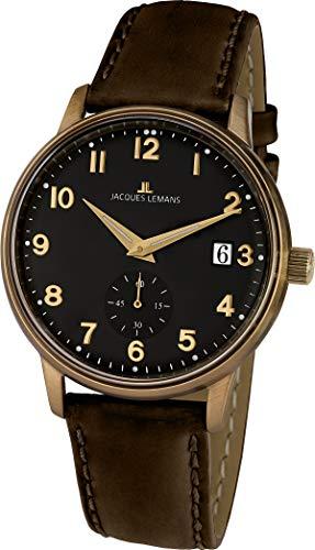 Jacques Lemans Reloj Analógico para Unisex Adultos de Cuarzo con Correa en Cuero N-215.1ZK