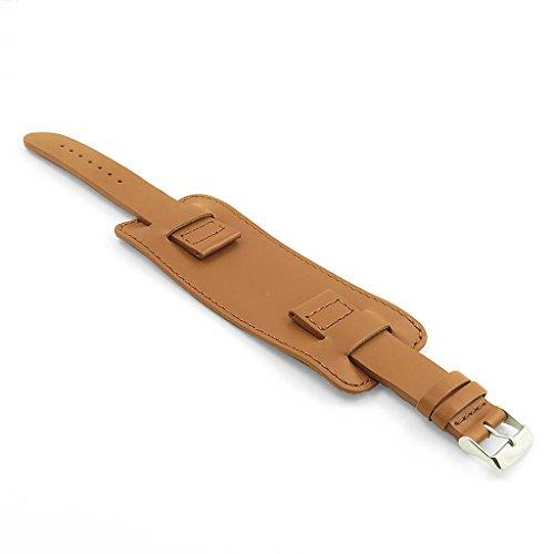 Dassari Monarch 24mm tan Smooth pelle italiana polso orologio da polso