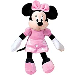 Minnie Mouse Minnie Mouse-Peluche, Color Rosa (Famosa 760011896),, 18 x 7 x 46