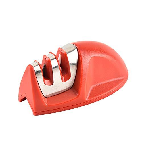 ZUEN Mini-Maus Typ Zweistufiger Anspitzer Zweistufiger Anspitzer Küchenwerkzeug Außenschärfstein Fester Anspitzer,Red