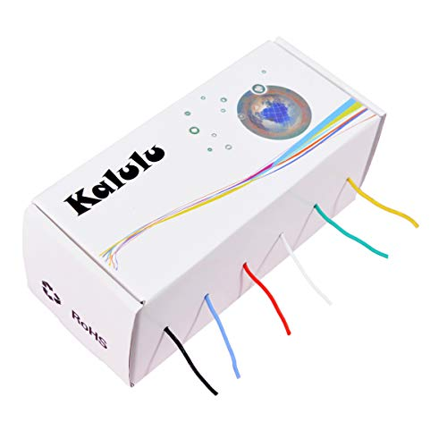 Elektrischer Draht - KALULU 24 AWG Haken Draht-Kit Flexible Silikon Draht 3000V Isolierdraht-hohe Temperaturbeständigkeit (6 verschiedene farbige 6M Spulen) (24AWG)