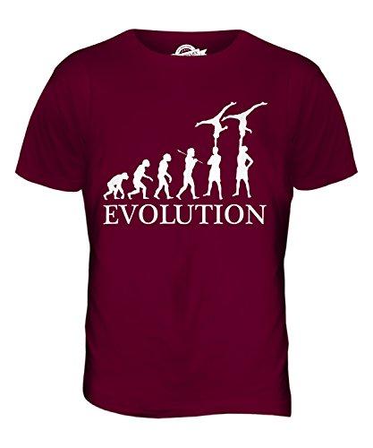 CandyMix Gruppengymnastik Evolution Des Menschen Herren T Shirt Burgunderrot