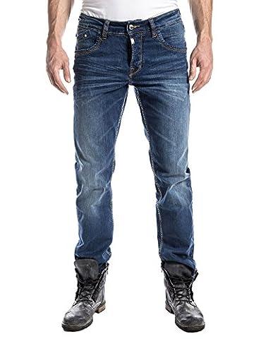 Timezone Herren Straight Leg Jeanshose JasonTZ, Gr. W36/L32, Blau (used surfer wash 3977)