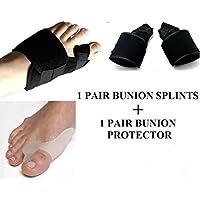 Preisvergleich für Aptoco 4 x Hallux-Valgus-Schutz, Korrektur für Ballenzeh, Schiene für die Zehen, Schmerzlinderung
