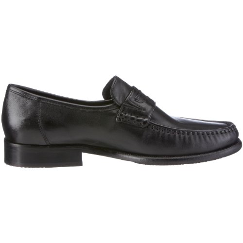 Sioux CHED 22410 hommes Mocassins, Noir