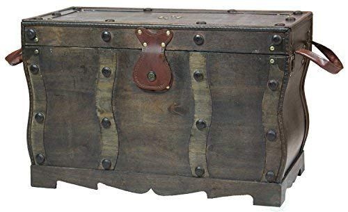 Antike Truhen Und Trunks (Vintiquewise Antik Stil Distressed Holz Piraten Schatzkiste, Couchtisch Trunk)