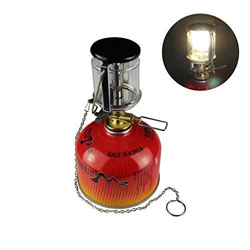 soundwinds Tragbare Camping Laterne Gas Lampen Licht Mini Zeltlampe Fackel hängende Glaslampe mit hängendem Kamin Leicht Camping Lichter für Zelte Outdoor Angeln Wandern Camping