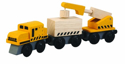 PlanToys - PT6251 - Jouets en Bois - Train Grue