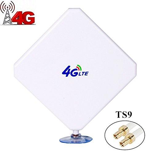 URANT TS9 4G Hochleistungs LTE Antenne 35dBi Netzwerk Ethernet Verstärker-Antenne Richtantenne Signalverstärker Verstärker für Huawei E5372 E398 E3276 E392 E3272 E8278 R212 MF93 R215 (Vakuum-verstärker)