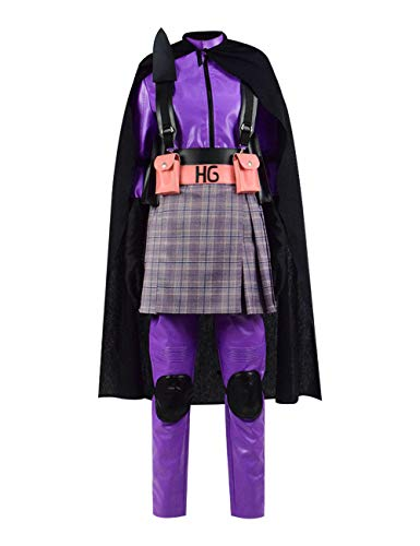 Kickass Kostüm Hit Girl - Zhangjianwangluokeji Komödie Superheld Hit Kickass Girl Mindy Macready Kostüm Overall Halloween Cosplay (Mädchen-18, Style 1)