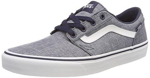 Vans Herren Chapman Stripe Sneaker, Blau (Rock Textile), 46 EU