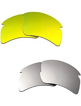 Hkuco Plus Mens Replacement Lenses For Oakley Flak 2.0 XL 24K Gold/Titanium Sunglasses