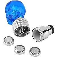 Tapon LED de calavera para valvula de la bicicleta color azul