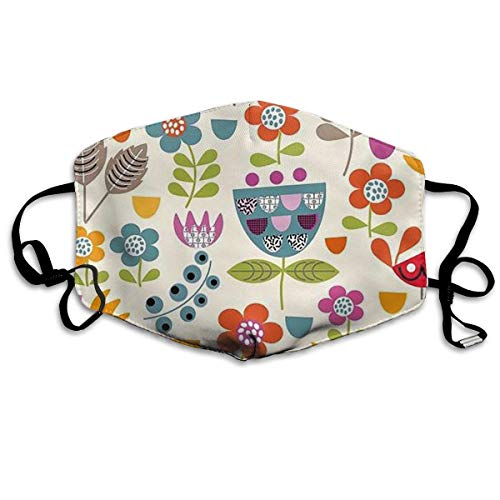 Funky Flowers Anti Pollution Respirator Dust Mask Cotton Reusable Face Mouth Mask Fashion for Men Women Funky Winter Ski