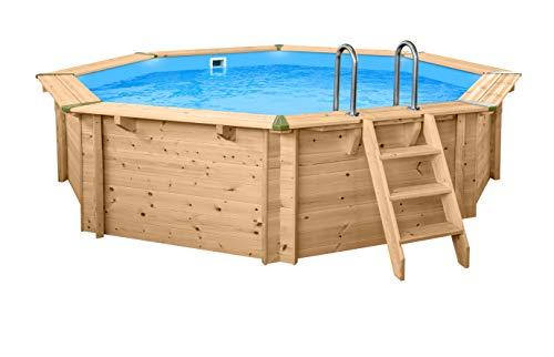 Holzpool rund I Aufstellpool 440cm Durchmesser I 116cm tief I Swimmingpool Set
