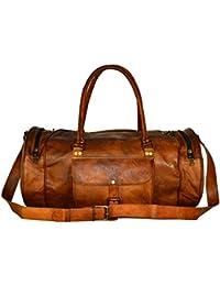 ALBORZ Leather 36 Ltr Coffee Brown Sports Duffel b23dafc5820e8