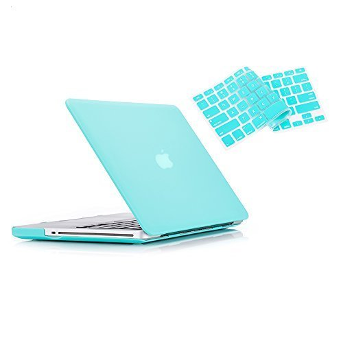 MacBook Pro 13 Hülle 2012 2011 2010 2009 Release A1278, Ruban Hard Case Shell Cover und Keyboard Skin Cover für Apple MacBook Pro 13 Zoll mit CD-ROM - Türkis