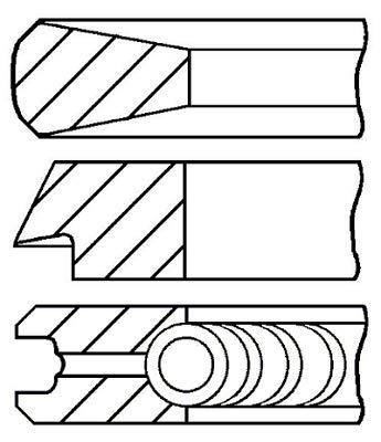 Goetze Engine 08-114400-40 Segments de pistons
