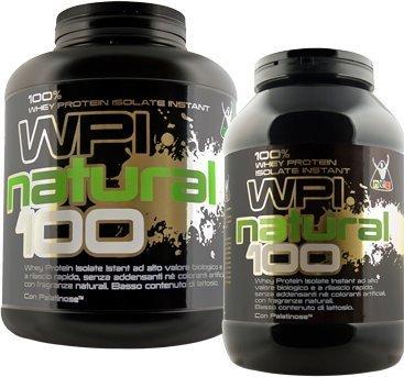 WPI Natural 100 - Whey Protein Isolate Instant (Gusto Vaniglia Naturale, 900 grammi)