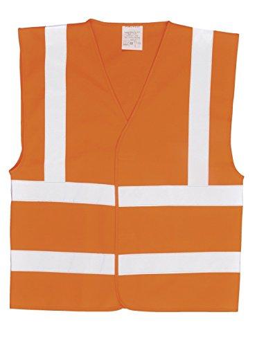 Portwest C470Weste ohne Ärmel Hohe Sichtbarkeit 2Streifen und Träger Reflektierende, XXL/XXXL, orange