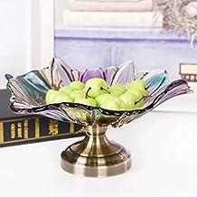 LiTing Corbeille à fruits en verre en cristal Moderne salon créatif maison  table à café panier 5f7696109bc6