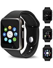 WellTech Touch Screen, Multi Language Bluetooth Smartwatch with Camera and 3G, 4G SIM Card Support Compatible with Android, iOs Mobile, Tablet, iPhone Like Vivo V9 (Black)