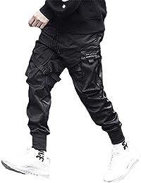 Tasty Life Pantaloni da Jogging da Uomo Harlan Modelli Esplosione Primavera Pantaloni Hip Hop Pantaloni Sportivi Multi-Tasca Neri da Uomo Casual Street