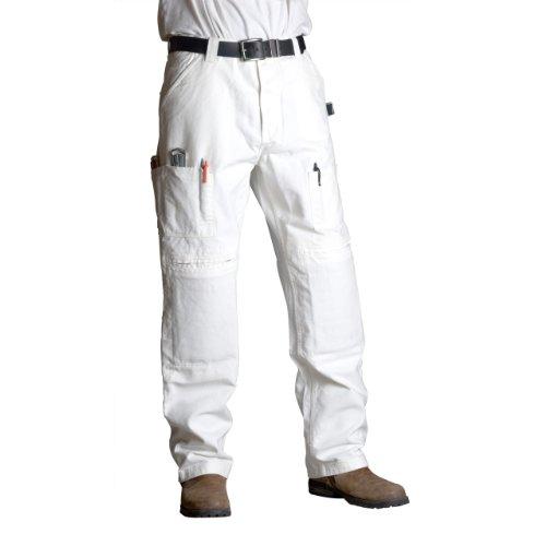 Hose Maler Baumwolle (Armed Work Wear Maler Hose ML Baumwolle Arbeit Hose, weiß, aa3030)