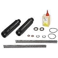 SET: Telegabel Reparaturset mit 3,4 mm Druckfeder + Faltenbalg + Öl + Kleinteile für Simson S50, S51, S70 F-13355