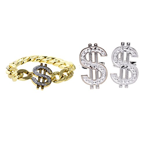 t Dollar-Zeiche mit Dollar Ring Damen Fingerring Vintage hiphop rapper fancy dress Party (Vintage Kostüm Ringe)
