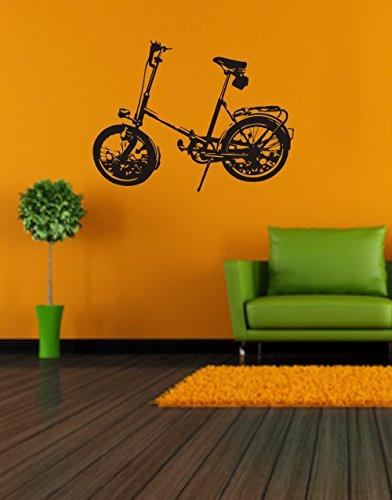 Wandtattoo- Wandaufkleber: Klapprad - MIFA - Faltrad - Fahrrad - Kult - DDR// Farb- und Größenwahl (600 mm x 450 mm, Weiß)