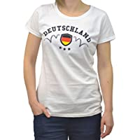 GB Sports - Women's T-Shirt - Germany Design for FIFA World Cup 2014 White