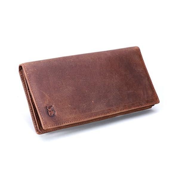 1abffa9ba6 ... vera pelle da donna porta monete e carte di credito, Marrone Scuro. 🔍.  Accessori ...
